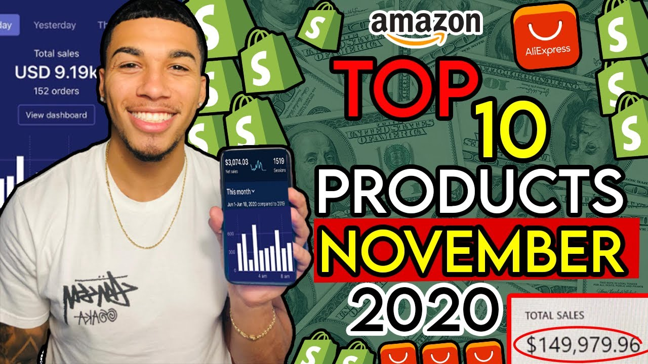 ☀️ TOP 10 PRODUCTS TO SELL IN NOVEMBER 2020 | SHOPIFY DROPSHIPPING