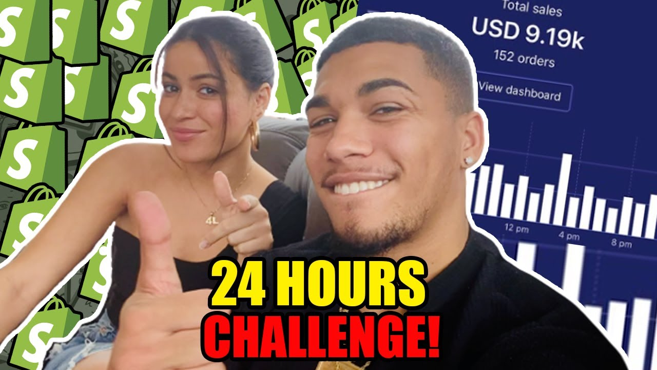 My Girlfriend Tried Dropshipping For 24 Hour Challenge | Shopify 2020