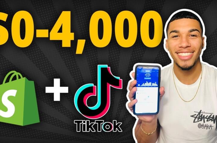 $0-$4K In 5 Days With Tiktok Ads - Step By Step Tutorial & Strategy